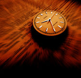 Dictionary with clock. Close-up of old dictionary with clock Royalty Free Stock Photos