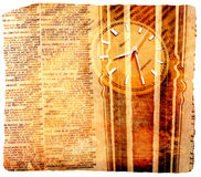 Dictionary with clock Royalty Free Stock Photography