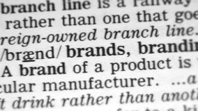 Dictionary Definition - Brand
