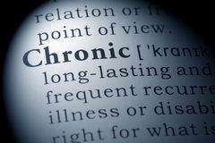 Dictionary definition of chronic. Fake Dictionary, Dictionary definition of the word chronic royalty free stock image