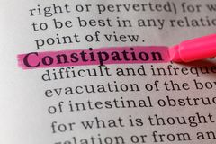 Dictionary definition of constipation. Fake Dictionary, Dictionary definition of the word constipation royalty free stock photos