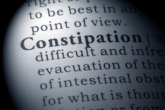 Dictionary definition of constipation. Fake Dictionary, Dictionary definition of the word constipation Royalty Free Stock Photography