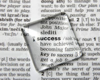 Dictionary definition of success Royalty Free Stock Images
