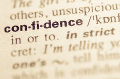 Dictionary definition of word confidence Stock Photography