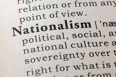 Dictionary definition of the word nationalism royalty free stock image