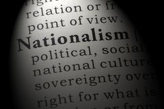 Dictionary definition of the word nationalism stock image