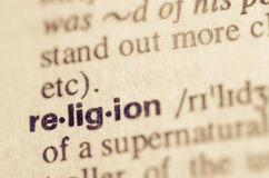 Dictionary definition of word religion Royalty Free Stock Images
