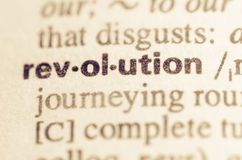 Dictionary definition of word revolution. Definition of word revolution in dictionary Stock Image