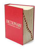 Dictionary on End stock images
