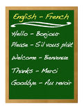 Dictionary english - french. Royalty Free Stock Image