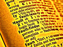 Dictionary fault Stock Photo