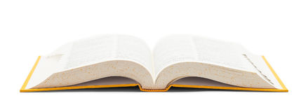 Dictionary Front View Open stock image