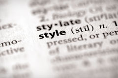 Dictionary Series - Attributes: style. Selective focus on the word style. Many more word photos in my portfolio Stock Photography