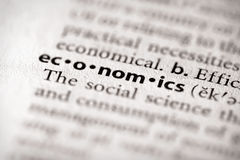 Dictionary Series - Economics: economics Royalty Free Stock Image