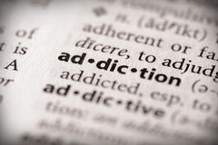 Dictionary Series - Health: addiction Royalty Free Stock Photography