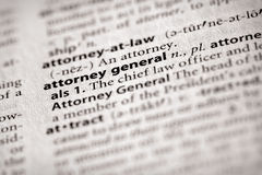Dictionary Series - Politics: attorney general. Selective focus on the words attorney general. Need more words Stock Photo
