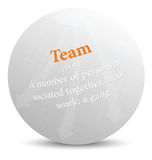 Dictionary term of team word. EPS 10 Vector of dictionary term of team word Stock Photo