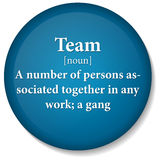Dictionary term of team word. EPS 10 Vector of dictionary term of team word Royalty Free Stock Images