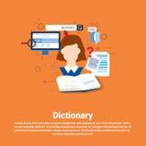 Dictionary Vocabulary Technology Translation Tool Web Banner Stock Image