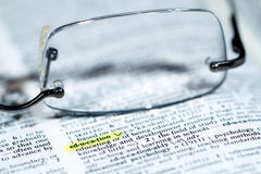 Dictionary Words Stock Photography