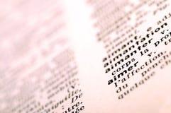 Dictionnaire français à l'amour de mot Images libres de droits