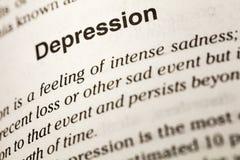 Dictionnaire intense de tristesse de la maladie de dépression photo stock