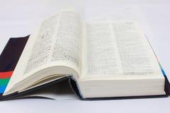 Dictionnaire sur le bureau Photographie stock