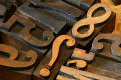 When Did 8 Begin?. Macro of vintage printer press numbers Royalty Free Stock Images