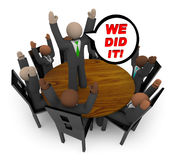 We Did It - Business Team Meeting vector illustration