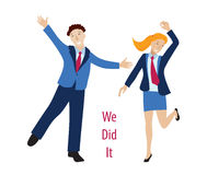 We did it concept vector Royalty Free Stock Photography