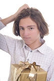 Did I buy the rigt present? Royalty Free Stock Images