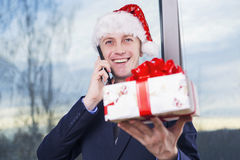 Did you get a gift? Royalty Free Stock Image