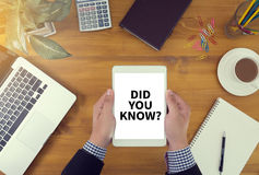 DID YOU KNOW? Royalty Free Stock Photos