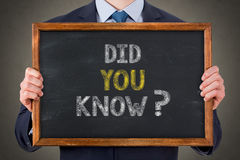 Did You Know on Chalkboard Background Stock Images