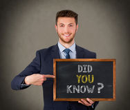 Did You Know on Chalkboard. Working Conceptual Business Concept stock photo
