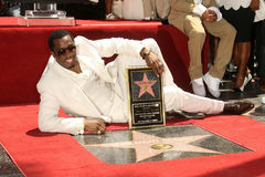 Diddy Combs,Sean. Sean Diddy Combs  at the ceremony honoring him with the 2,362nd star on the Hollywood Walk of Fame. Hollywood Boulevard, Hollywood, CA. 05-02 Royalty Free Stock Image
