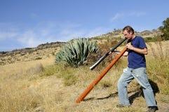 didgeridoo制造商重要资料 免版税库存图片