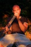 didgeridoo球员 免版税库存图片
