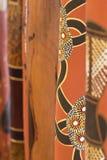 Didgeridoo in Geschilderde Rij Royalty-vrije Stock Foto's