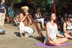 Didgeridoo massage Royalty Free Stock Photos