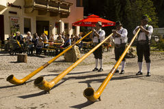 Didgeridoo music Oktoberfest in Gerlos Austria Royalty Free Stock Images