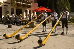 Didgeridoo music Oktoberfest in Gerlos Austria royalty free stock images