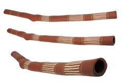 Didgeridoo, Musikinstrument der australischen Aboriginals Stockbild