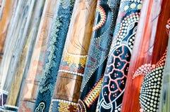 Didgeridoo op vertoning royalty-vrije stock foto's