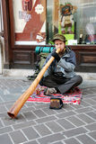 Didgeridoo player Royalty Free Stock Images