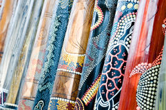 Didgeridoo's on display Royalty Free Stock Photos