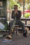 didgeridooman royaltyfri bild