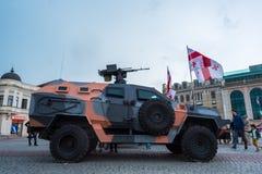 Didgori, Géorgien-fait véhicule blindé de transport de troupes Images stock