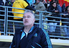 Didier Deschamps of Olympique de Marseille Stock Photos