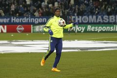 Didier Drogba FC Schalke v FC Chelsea 8eme Final Champion League Royalty Free Stock Images